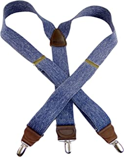 product image for HoldUp Suspender in a Dark Denim color Y-back Suspenders in our Casual Series with No-slip Silver Patented Clips