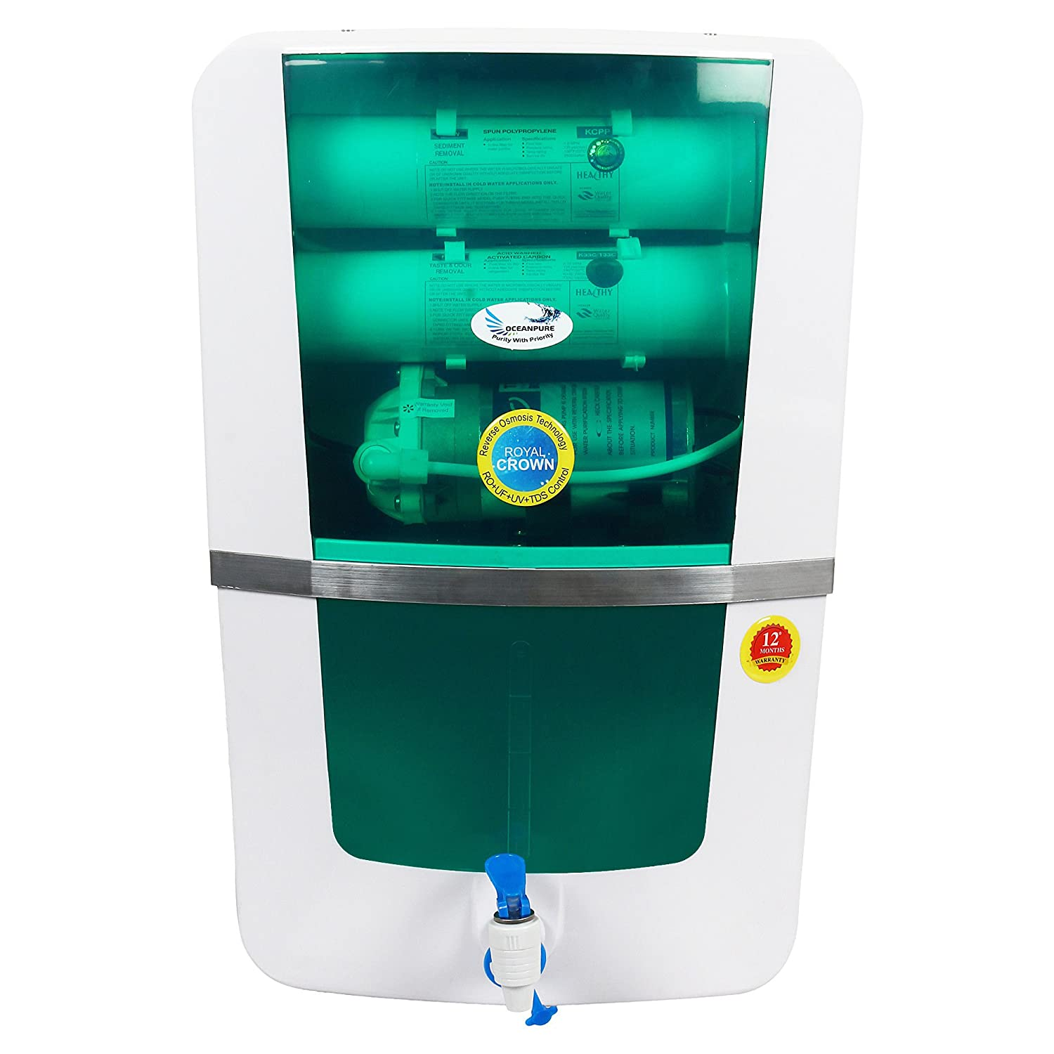 Ocean Pure Royal Crown RO Water Purifier RO UV UF TDS Controller