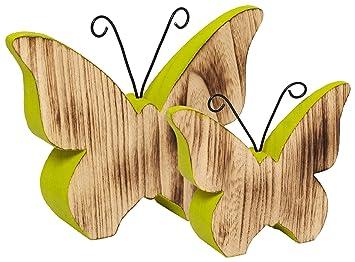 AuBergewohnlich Heitmann Deco   Schmetterlinge Aus Holz   Grün Bemalt   Schöne Dekofiguren  Für Frühlingsdeko Und Ostern