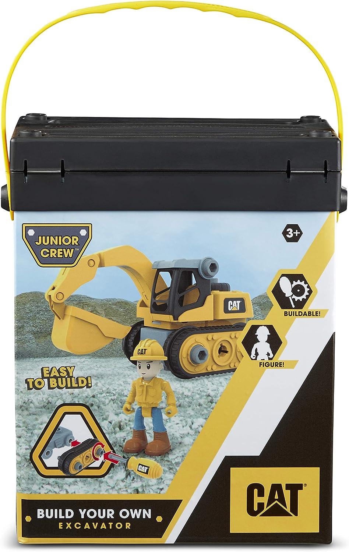 Jaune Caterpillar 80903 Excavatrice Junior Crew V/éhicule de Chantier Plastique