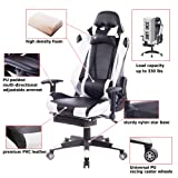 Killbee Ergonomic Gaming Chair with Footrest