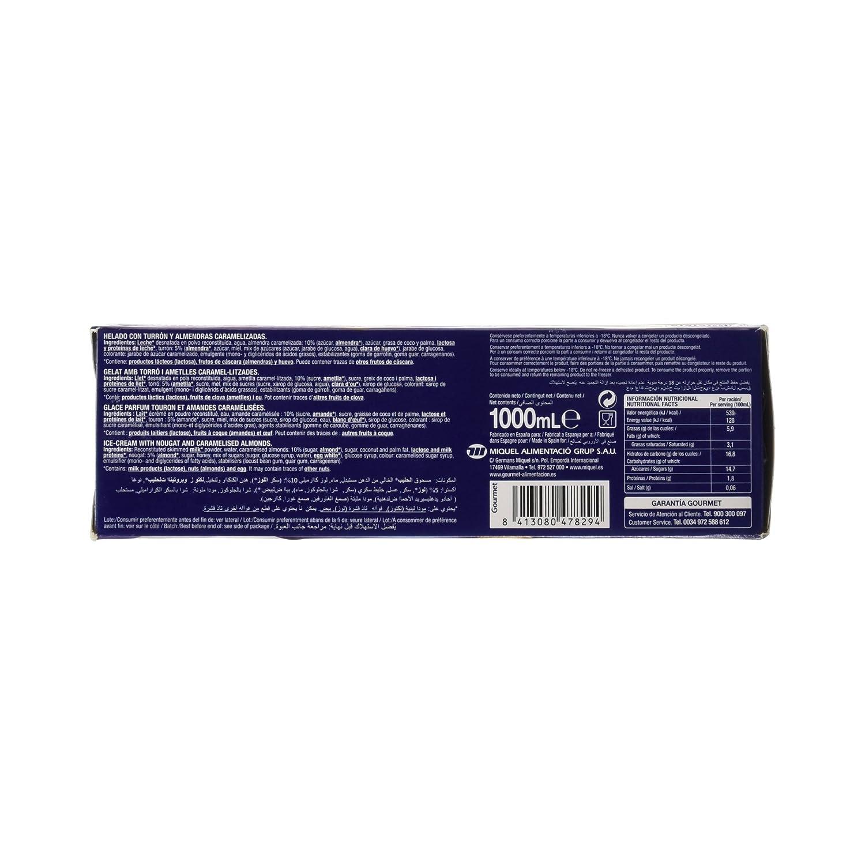 Gourmet - Barra de Helado - Helado con Turrón y Almendras Caramelizadas - 1 L: Amazon.es: Alimentación y bebidas