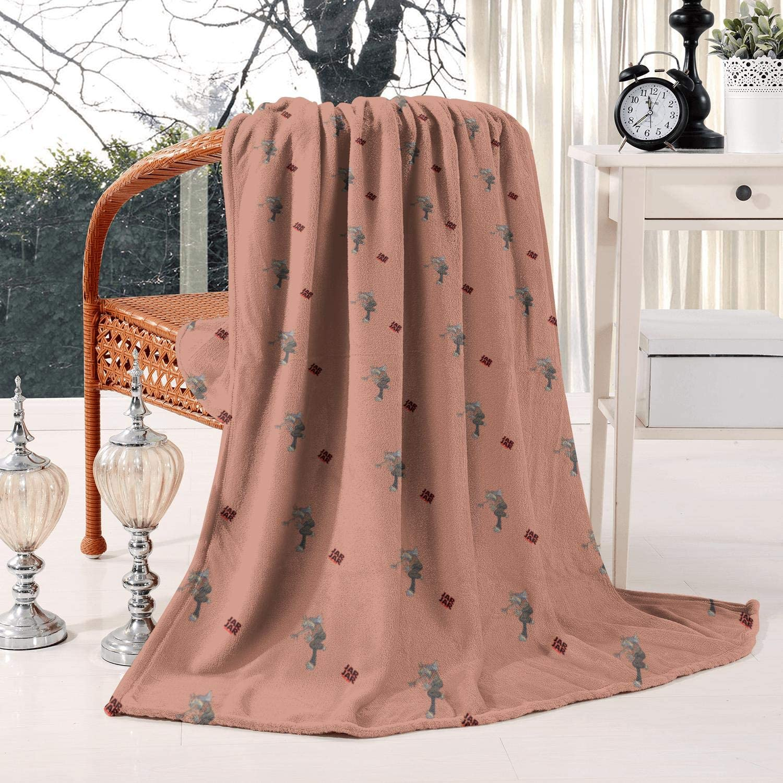 ZADKH Home Jar-Jar-Binks-Galactic-Capital- Flannel Blanket All-Season Warm Bed Blanket for Sofa,Bed, Office,50
