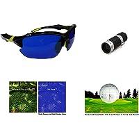 POSMA SGG-050B Golf Ball Finder Hunter Retriever Glasses + Bundle set Golf Rangefinder High Definition Mini Monocular Pocket Scope