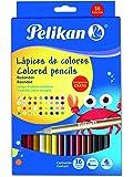 Pelikan 30330302 Lápices de Colores Redondos, Paquete de 36 Piezas, Multicolor