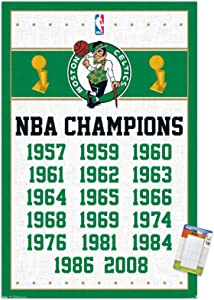 Trends International NBA Boston Celtics - Champions 13 Wall Poster, 22.375