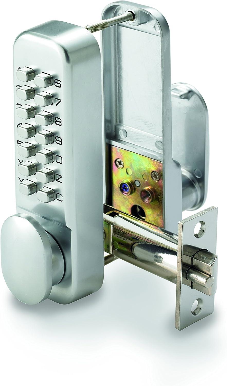 Securefast - Cerradura digital para puertas con teclado y sistema Digilock mecánico, modelo SBL300, color plateado