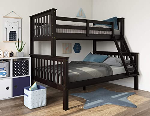 100 Solid Wood Mission Twin Over Full Bunk Bed