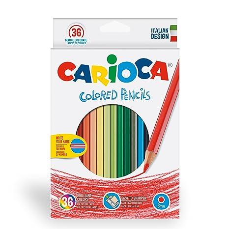 matite colorate  Carioca 41875 - Confezione 36 Pastelli Matite Colorate in Legno ...