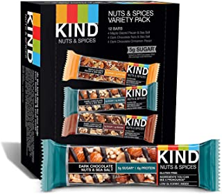 product image for KIND Bars, Nuts and Spices Variety Pack, Gluten Free, 1.4 Ounce Bars,Packaging May Vary