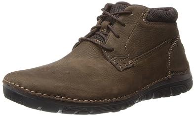 Rockport Men's Zonecrush Rocsport Plain Toe Wide Dark Brown Boot 11.5 Wide  Men US