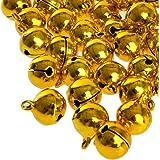 100 laute goldene Glöckchen Schellen mit Öse - ca. 17x13 mm - Aus Kupfer - Kleenes Traumhandel®