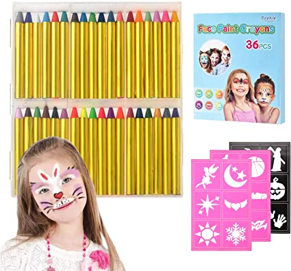 Pinturas Cara para Niños,Crayones de Pintura de Cara,Jumbo de 36 Jumbo 3