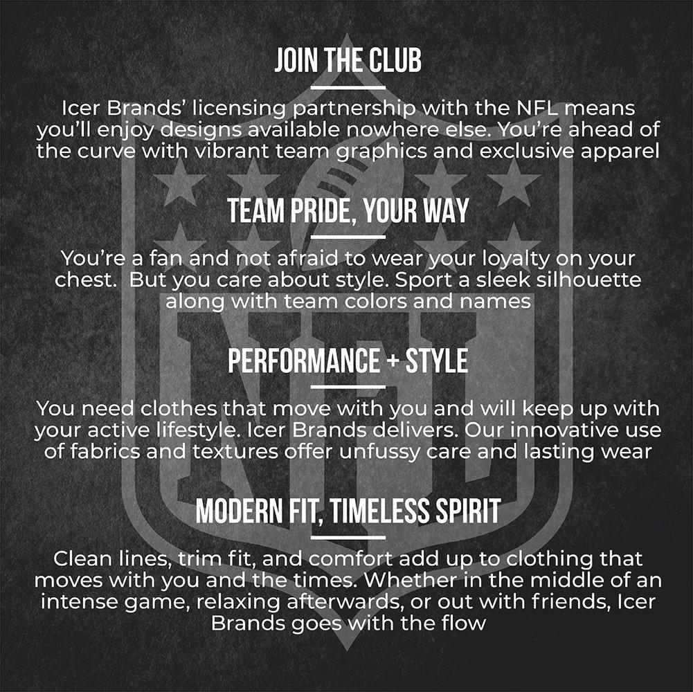 ea7d03be6f Amazon.com   ICER Brands NFL Men s Quarter Zip Pullover Hoodie Windbreaker  Jacket