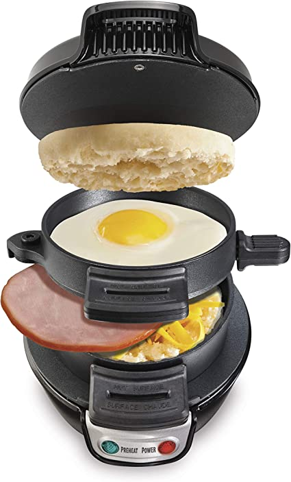Hamilton Beach 25475 Sandwichera para desayuno gris Negro Único 1