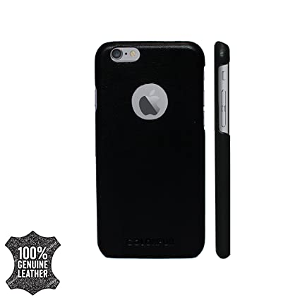 big sale 4ab91 03f16 Colorpur Leather Case with Logo Cut for iPhone 6/6S(Black)
