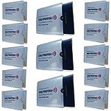 Digi-Protek RFID Blocking Passport Sleeve (3) + RFID Blocking Credit Card Sleeve (10) Waterproof /Tear Resistant