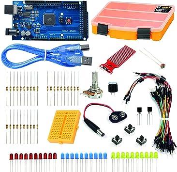 Robocombo Conjunto de Proyectos Avanzados para Arduino, Arduino Starter Kit con Arduino, Mega 2560 Microcontroller Board and Accessories, Advanced Training Development Kit: Amazon.es: Electrónica