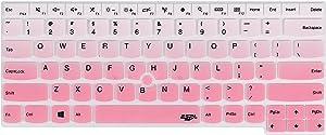 Keyboard Cover for Thinkpad E14 L14 T470 T480 T480S T490 T490s T495 T495s T14 T14s E480 E485 E490 E495, Thinkpad P14s P43s, Thinkpad X1 Carbon 2019 2020, X1 Yoga 2019 2020 Laptop - Gradual Pink