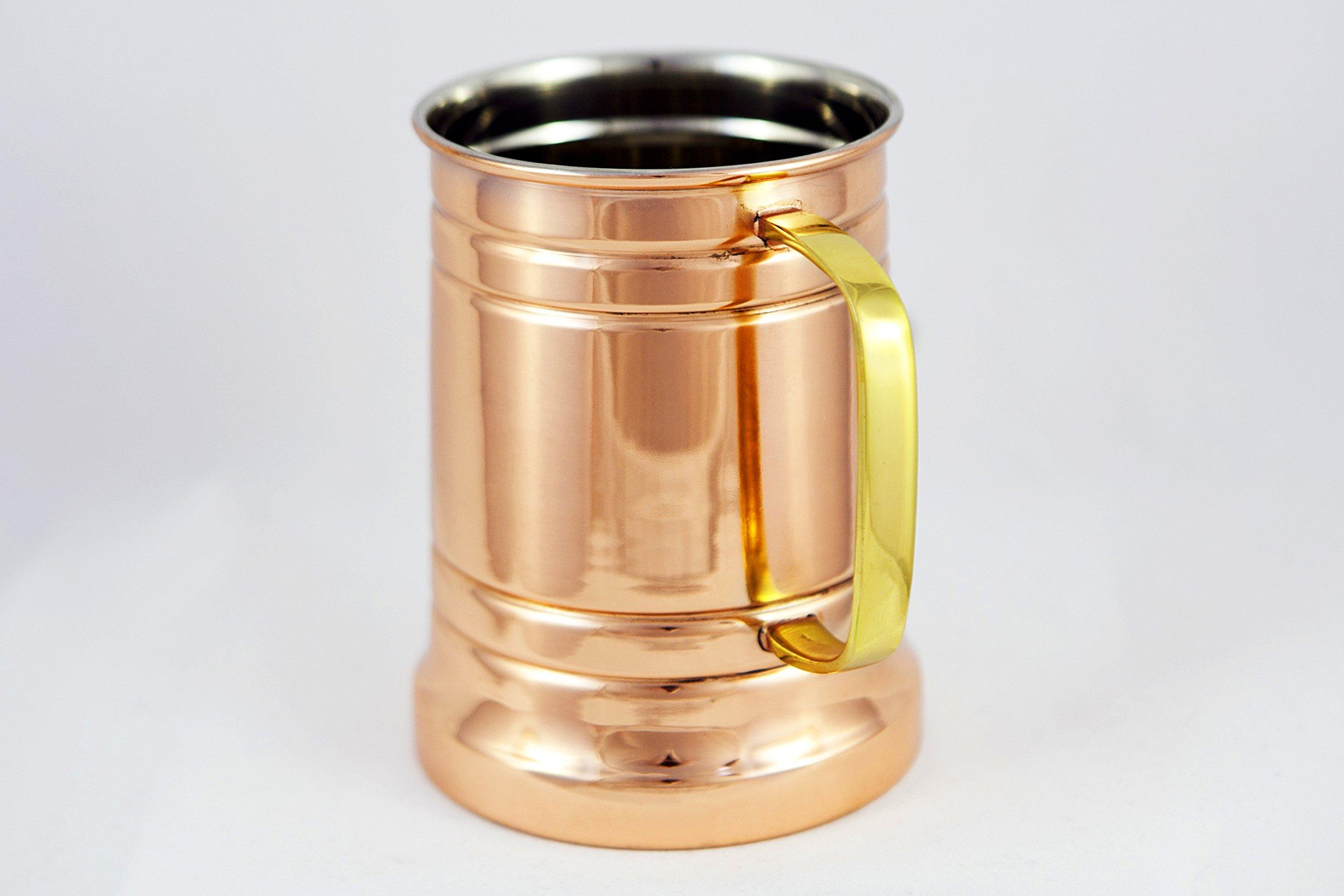 Copper German Beer Stein – Handcrafted Copper Antique Large Beer Stein Mug, Best Copper Tankard Mug Gift For Beer Or…