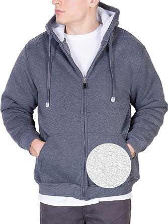 Oscar Sports Jacket for Men Fleece Lined Zip Up Hoodie Big /& Tall Heavy Sherpa Winter Sweater Large, Charcoal
