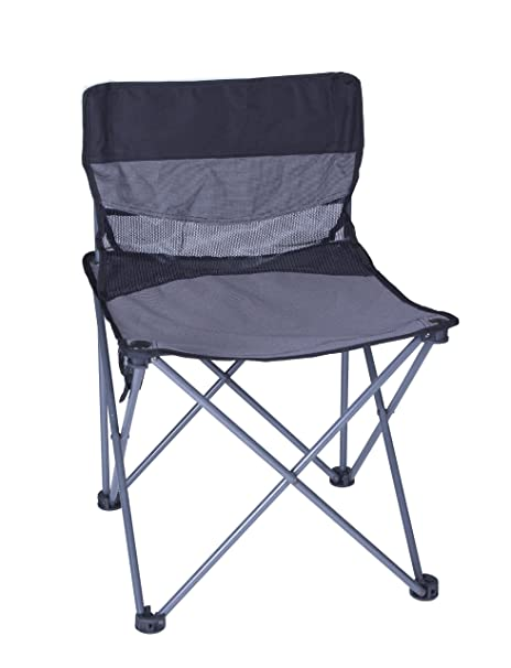 Stansport Apex Folding Sling Back Chair (Black/Silver)