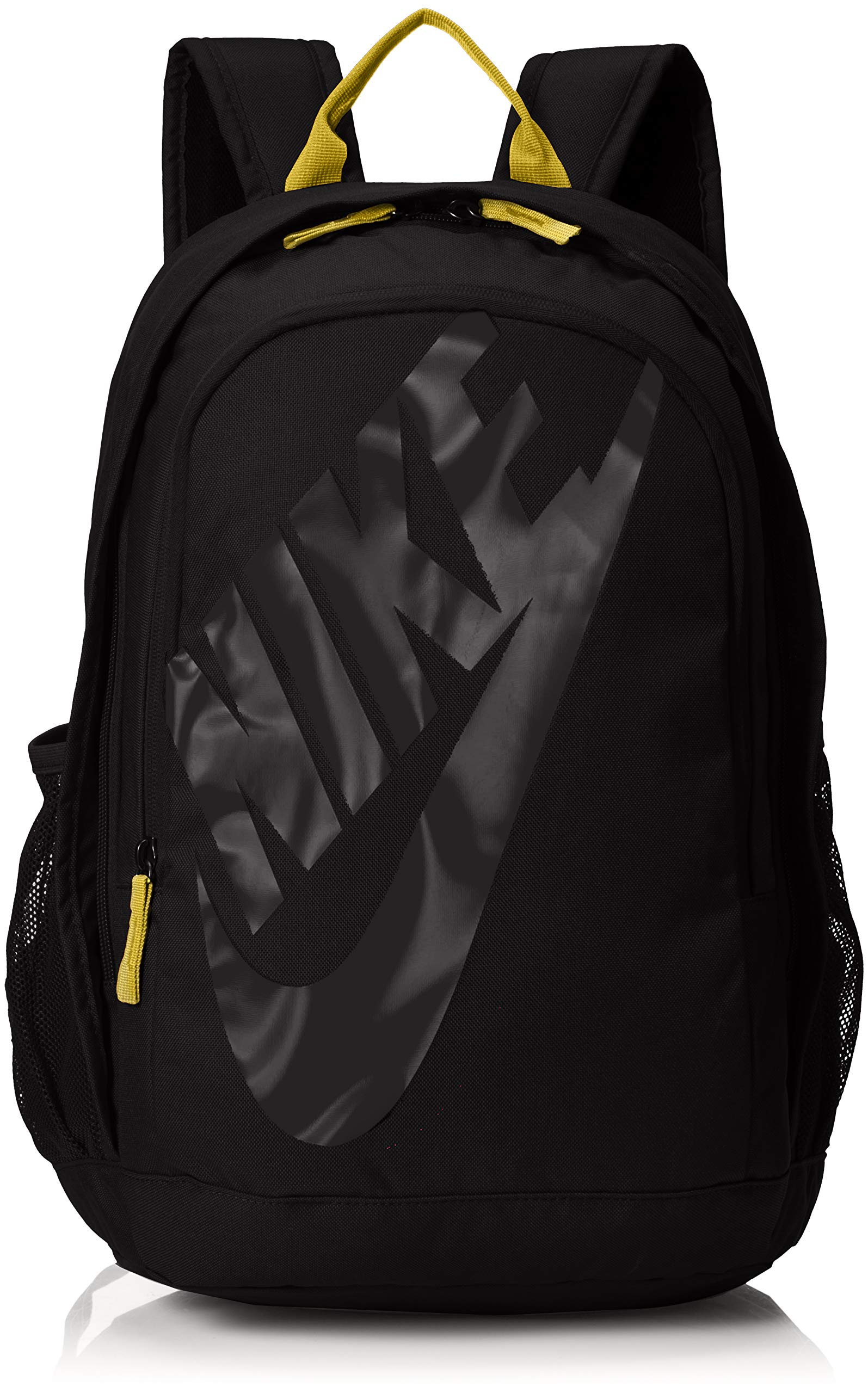 Nike Sportswear Hayward Futura Backpack for Men, Large Backpack with Durable Polyester Shell and Padded Shoulder Straps, Black/Amarillo/Black by Nike
