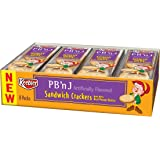 Keebler Crackers, PB & J (1.38-Ounce Pack), 8-Count Sandwiches (Pack of 6)