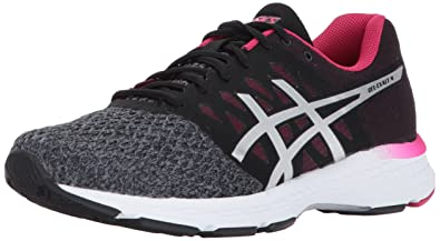 check out 250ef 4fd97 ASICS Womens Gel-Exalt 4 Running Shoe, Carbon Silver Cosmo Pink,