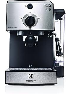 Electrolux EasyPresso - Cafetera con bomba profesional de 15 bar de presión y función vapor