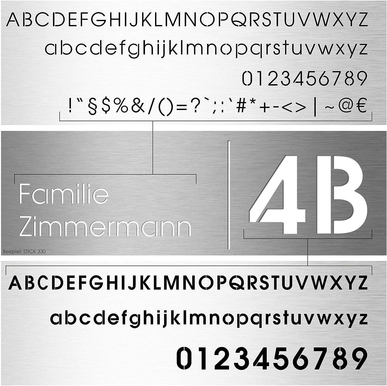 Gravur Briefkasten mit Name Hausnummer graviert MOCAVI Box 141 V4A-Edelstahl//anthrazit eisenglimmer DB 703 Zeitungsfach inkl