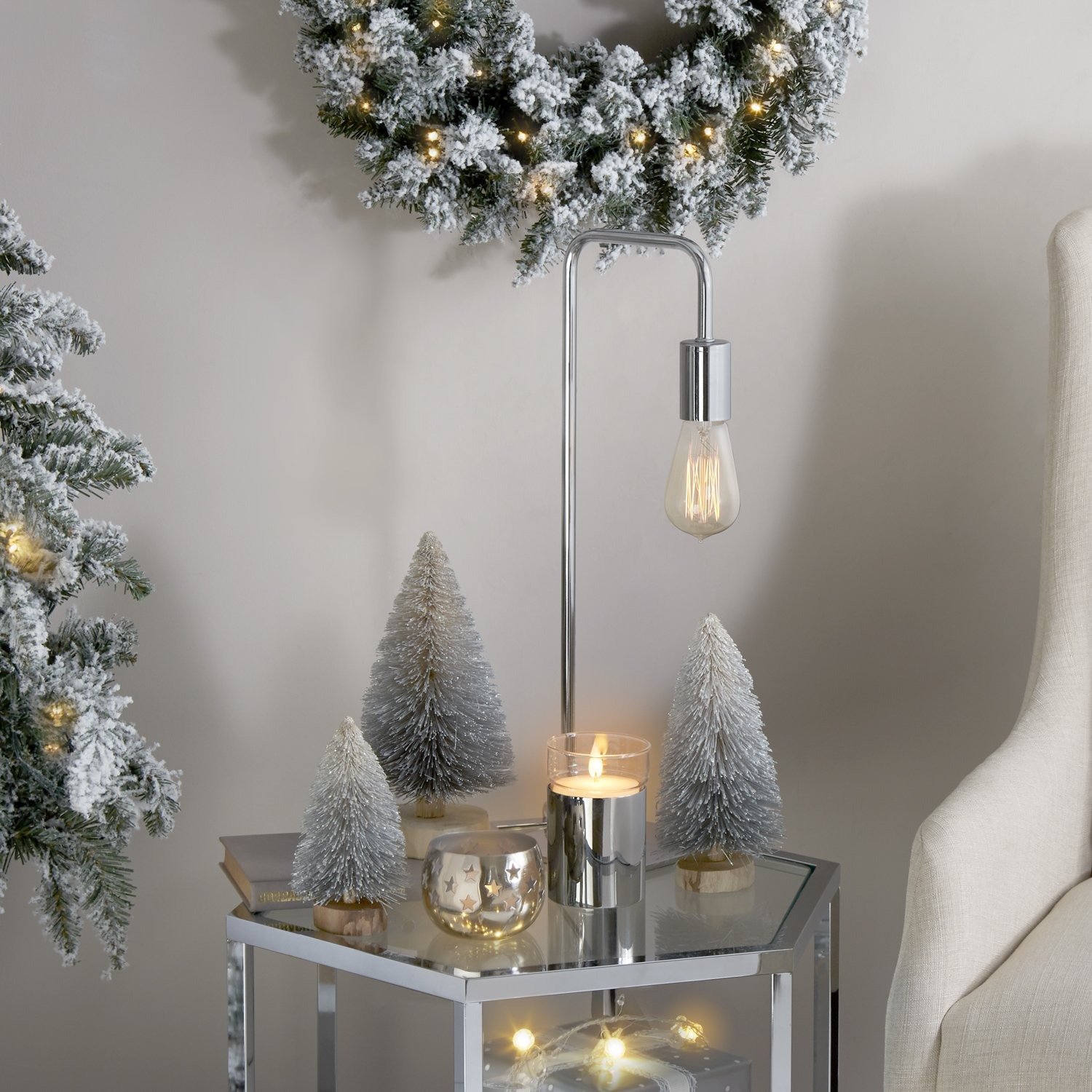 LampLust Bottle Brush Christmas Trees, Silver Sisal Table Top Decoration - Set of 3 by LampLust (Image #2)