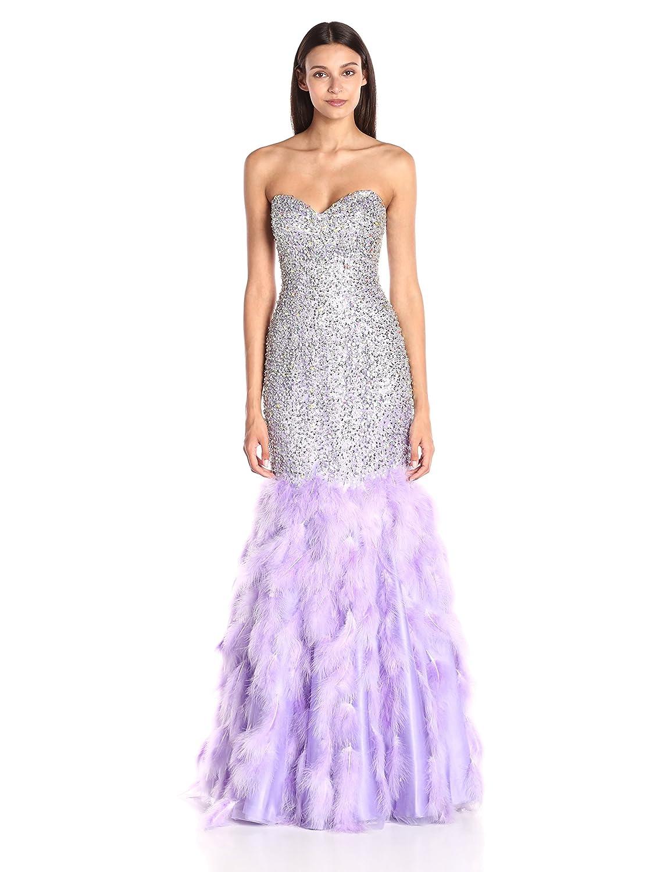 Jovani Women\'s Pink Strapless Mermaid Dress, Lilac, 4 at Amazon ...