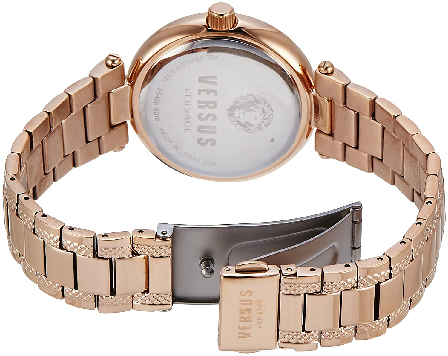 Amazon.com: Versus by Versace Womens BRICK LANE Quartz Stainless Steel Casual Watch, Color:Rose Gold-Toned (Model: S64060016): Versus Versace: Watches