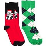 2 Pairs Christmas Socks Fine Fit Holiday Novelty Boxed Set - Choose Prints
