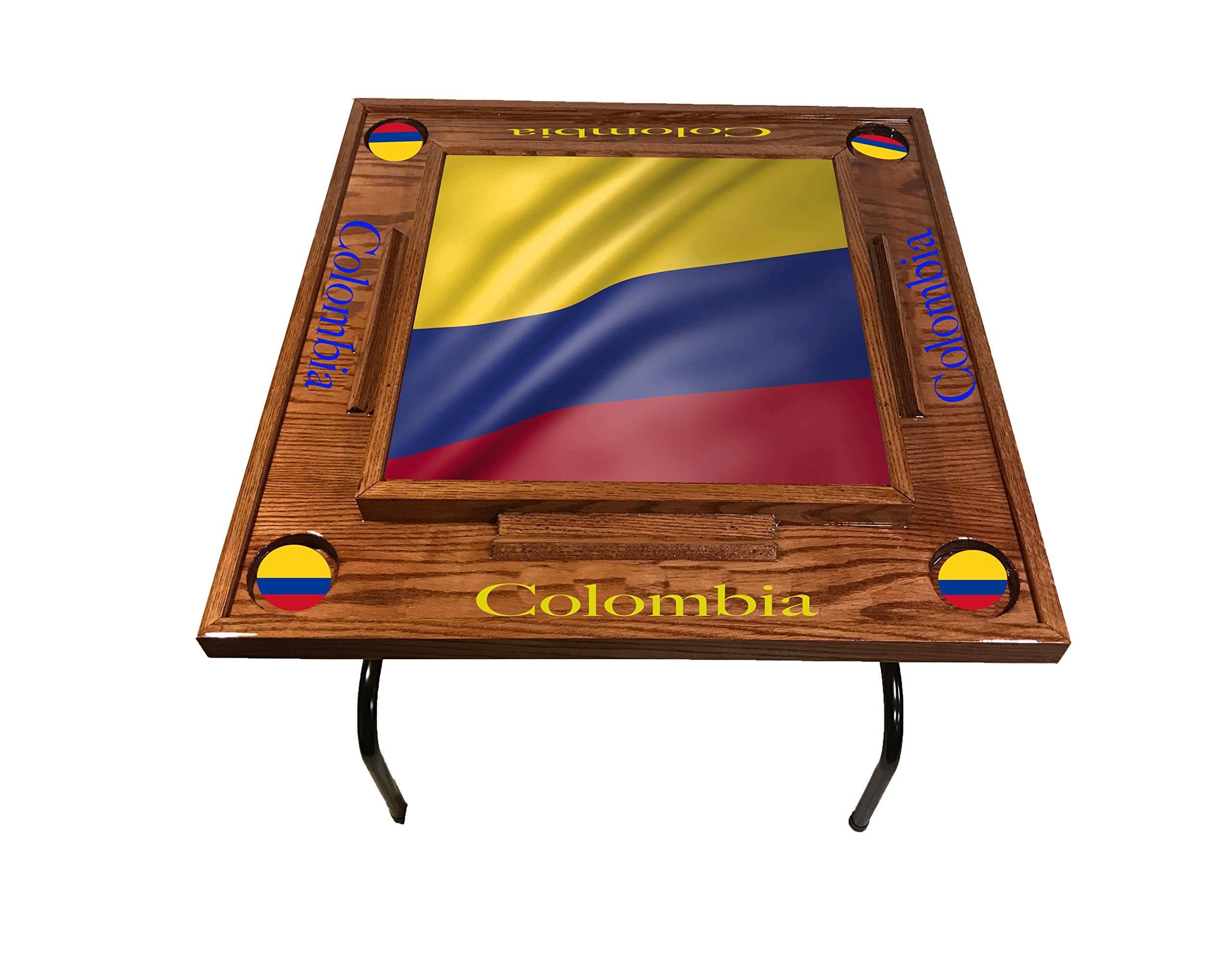 Colombia W Flg Domino Table (Red Mahogany)