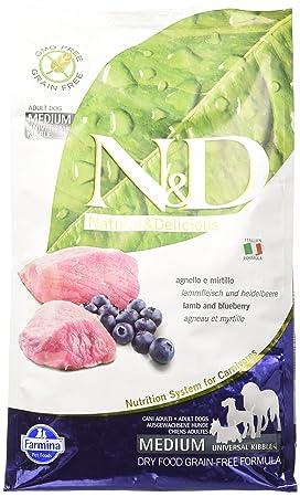 Farmina – N&D - Pienso sin cereales, con sabor a cordero y arándanos,2