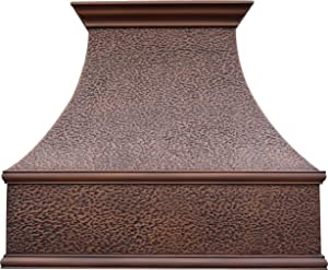 Sinda Copper Range Hood with Professional Liner and Internal Motor Fan H7HO