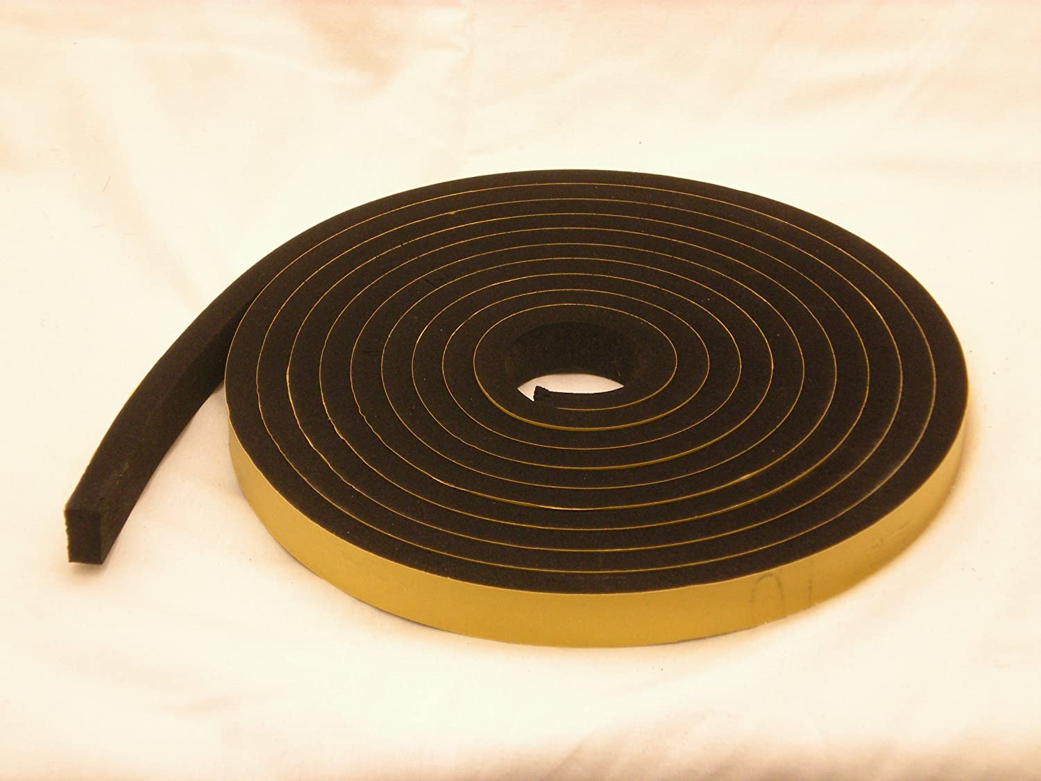 NEOPRENE RUBBER Self Adhesive Strip 3 4 wide x 1 2 thick x 16 feet long