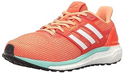 adidas Originals Women's Supernova w Running Shoe, Energy White/Easy Orange  S, 10