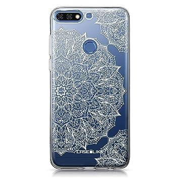 CASEiLIKE® Funda Huawei Y7 2018, Carcasa Huawei Y7 2018 / Honor 7C, Arte de la Mandala 2091, TPU Gel Silicone Protectora Cover