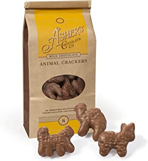 product image for Asher's Chocolates, Gourmet Chocolate Covered Animal Crackers, Small Batches of Kosher Chocolate, Family Owned Since 1892 (6oz, Milk Chocolate)
