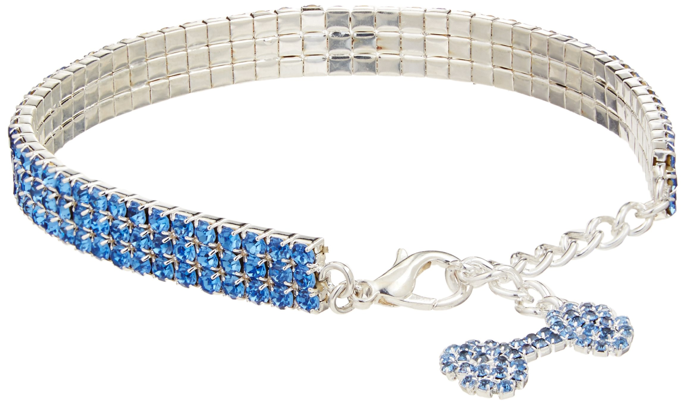 Mirage Pet Products 10 to 12-Inch Glamour Bits Pet Jewelry, Large, Blue by Mirage Pet Products
