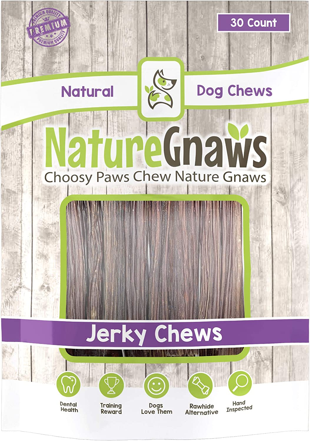 Nature Gnaws Junior Jerky Sticks 5-6 inch – 100 Natural Beef Chews for Small Dogs