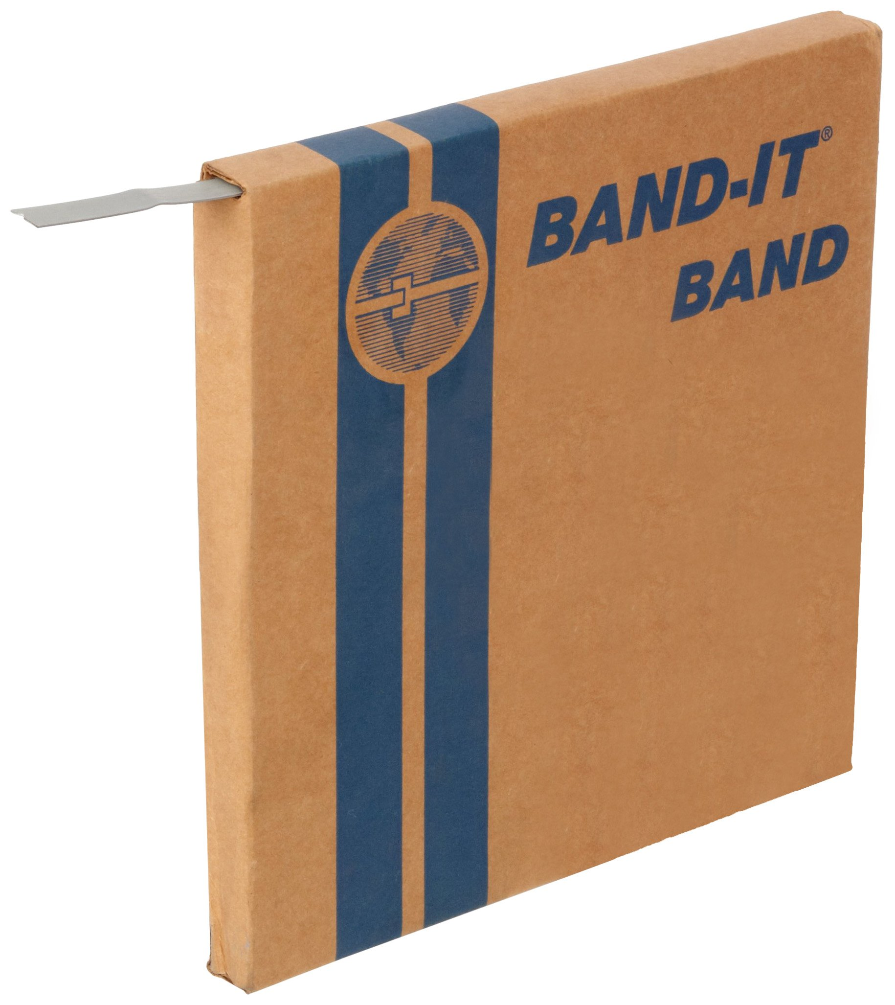 BAND-IT C30499 Galvanized Carbon Steel Band, 1/2'' Width X 0.030'' Thick, 100 Feet Roll