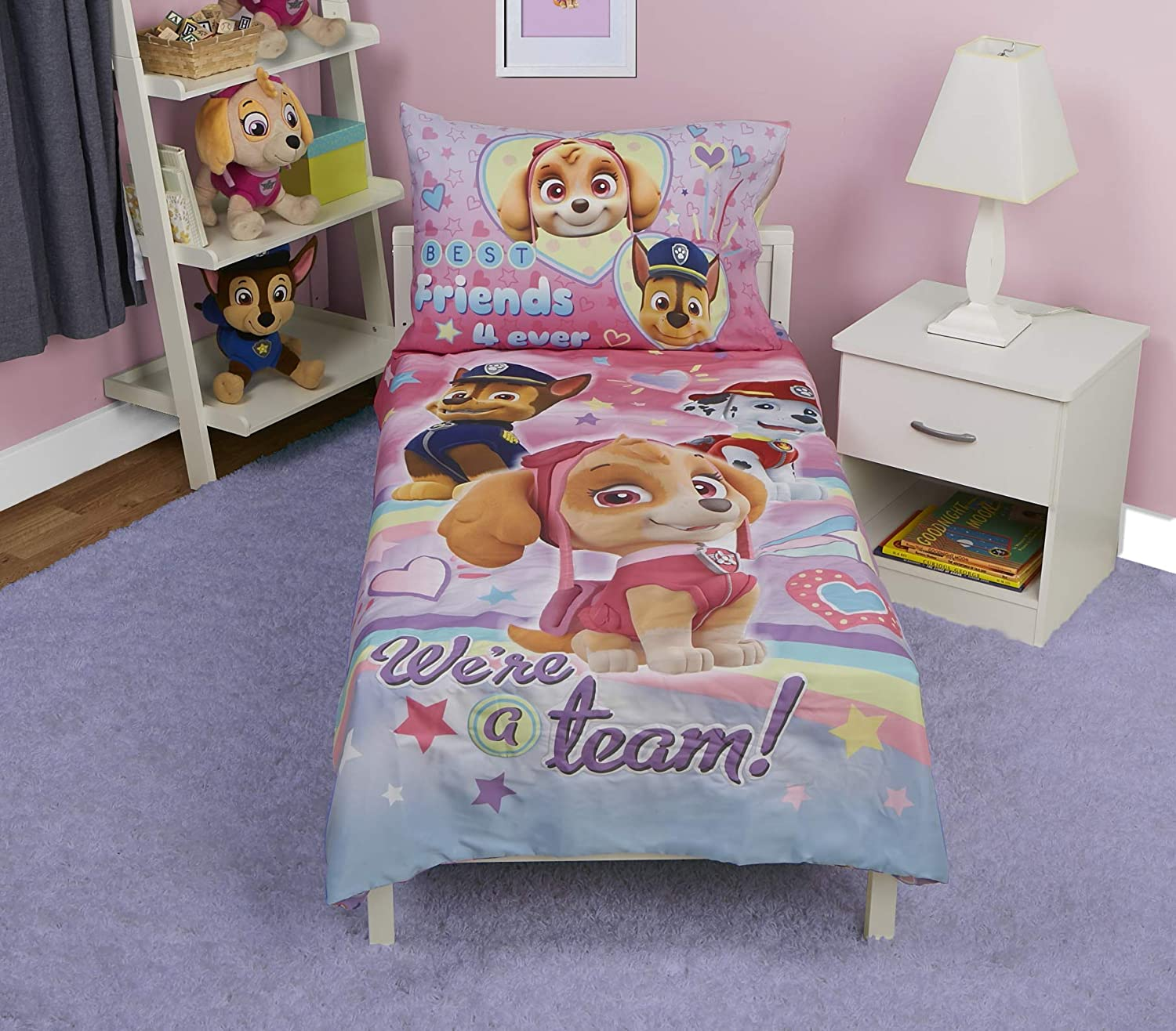 Paw Patrol Skye Toddler Bed Set We're A Team Baby Boom PAW279