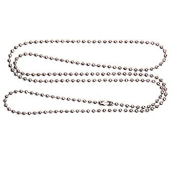 steel htm p bc ball ss chain necklace stainless