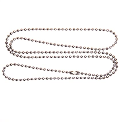 Amazon.com  2 STAINLESS STEEL Ball Chain Necklace 922d87f96