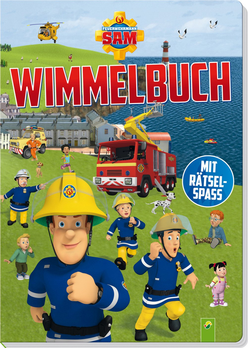 Feuerwehrmann Sam Wimmelbuch: Mit Rätselspaß Pappbilderbuch – 15. Januar 2018 Schwager & Steinlein 3849915638 empfohlenes Alter: ab 3 Jahre Bilderbuch / Wimmelbilderbuch