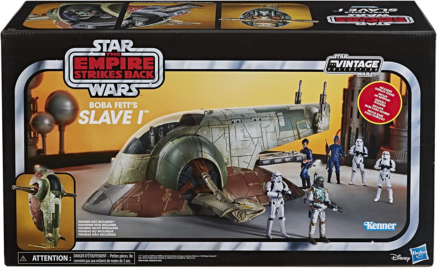 Amazon Com Star Wars The Vintage Collection Star Wars The Empire Strikes Back Boba Fett S Slave I Toy Vehicle Toys For Kids Ages 4 And Up Toys Games